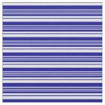 [ Thumbnail: Dark Blue & Lavender Colored Striped Pattern Fabric ]
