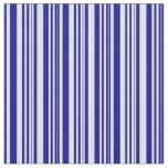 [ Thumbnail: Dark Blue & Lavender Pattern of Stripes Fabric ]
