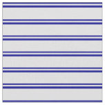 [ Thumbnail: Dark Blue & Lavender Striped Pattern Fabric ]