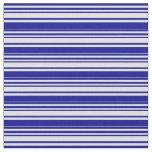 [ Thumbnail: Dark Blue & Lavender Stripes Fabric ]