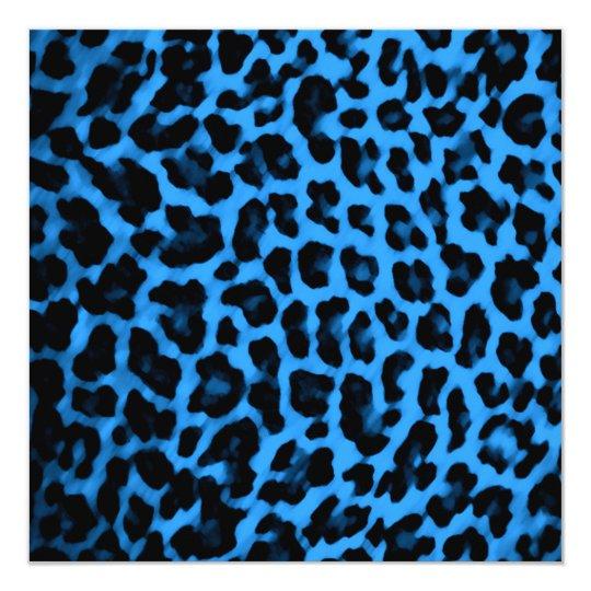 Dark blue leopard print card zazzle dark blue leopard print card thecheapjerseys Choice Image