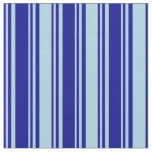 [ Thumbnail: Dark Blue & Light Blue Lines Pattern Fabric ]