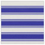 [ Thumbnail: Dark Blue & Light Cyan Colored Stripes Fabric ]