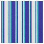 [ Thumbnail: Dark Blue, Light Cyan & Dark Turquoise Colored Fabric ]