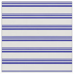[ Thumbnail: Dark Blue & Light Cyan Lined Pattern Fabric ]