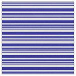 [ Thumbnail: Dark Blue & Light Cyan Stripes/Lines Pattern Fabric ]