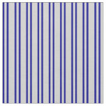 [ Thumbnail: Dark Blue & Light Gray Striped Pattern Fabric ]