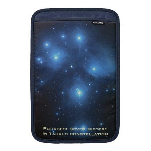 """Dark Blue MacBook Air 11"""" Sleeve With Pleiades MacBook Air Sleeves"""