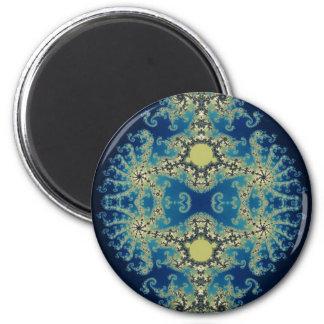 Dark Blue Mandelbrot Fridge Magnet