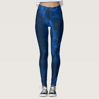 Dark Blue Marble Leggings