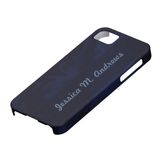 Dark blue marblized iPhone SE/5/5s case