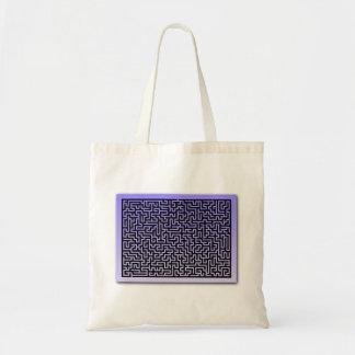 Dark Blue Maze Bags