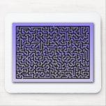 Dark Blue Maze Mouse Pad