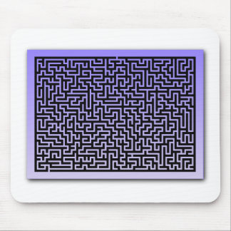 Dark Blue Maze Mouse Pads