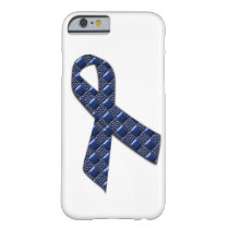 Dark Blue Metallic Barely There iPhone 6 Case