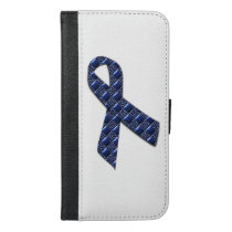 Dark Blue Metallic iPhone 6/6s Plus Wallet Case