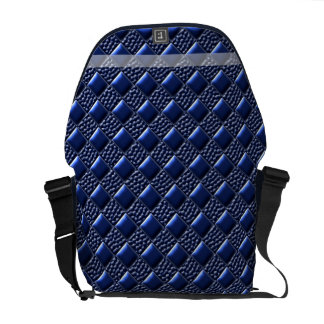Dark Blue Metallic Messenger Bag