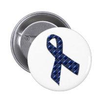 Dark Blue Metallic Pinback Button