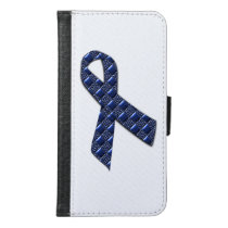 Dark Blue Metallic Wallet Phone Case For Samsung Galaxy S6