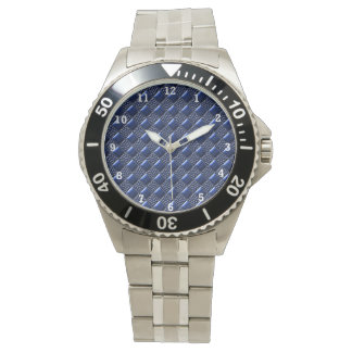 Dark Blue Metallic Wrist Watch