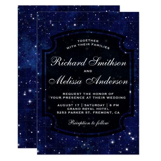 Dark Blue Wedding Invitations: Islam Wedding Invitations