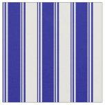 [ Thumbnail: Dark Blue & Mint Cream Colored Pattern Fabric ]