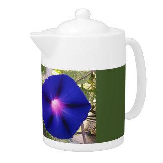 Dark Blue Morning  Glory Tea Pot