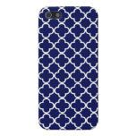 Dark Blue Moroccan Quatrefoil iPhone 5 Cover