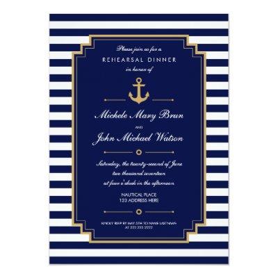 Dark Blue Gold Fabulous 50th Birthday Party Card Zazzlecom
