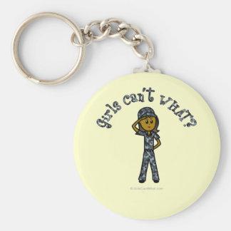 Dark Blue Navy Girl Keychain