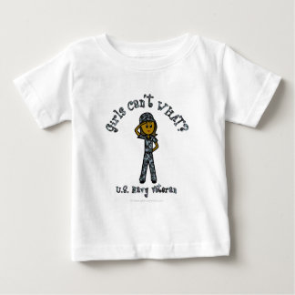 Dark Blue Navy Veteran Girl Baby T-Shirt