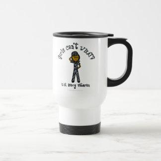 Dark Blue Navy Veteran Girl Travel Mug