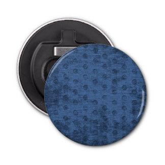 Dark Blue Nubby Chenille Fabric Texture Bottle Opener