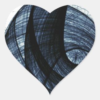 dark blue of wirl smoke and danger heart sticker