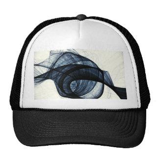 dark blue of wirl smoke and danger mesh hat