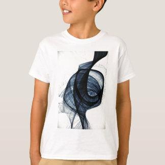 dark blue of wirl smoke and danger T-Shirt