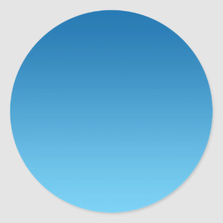 Dark Blue Ombre Classic Round Sticker