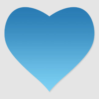 Dark Blue Ombre Heart Sticker