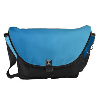 Dark Blue Ombre Large Messenger Bag