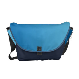 Dark Blue Ombre Messenger Bag