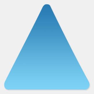 Dark Blue Ombre Triangle Sticker