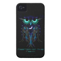Dark blue owl iPhone 4 Case-Mate case