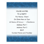 "Dark Blue Paisley. 4.25"" X 5.5"" Invitation Card"