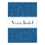 "Dark Blue Paisley. 5"" X 7"" Invitation Card"
