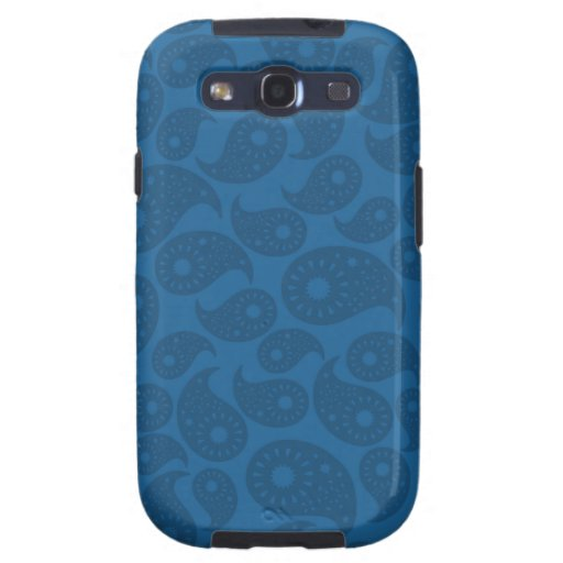 Dark Blue Paisley. Samsung Galaxy SIII Case