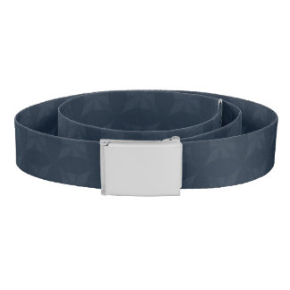 Dark Blue Pattern – Classy Men's Monogram Belt