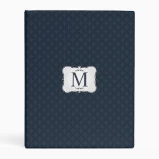 Dark Blue Pattern – Classy Men's Monogram Mini Binder