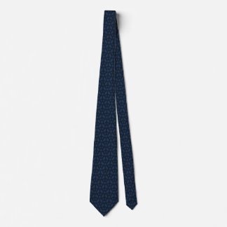 Dark Blue Peace Sign Neck Tie