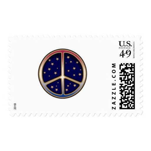 DARK BLUE PEACE SIGN STAMPS