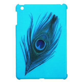 Dark Blue Peacock Feather iPad Mini Case